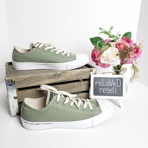 NWOT Sage Green Converse